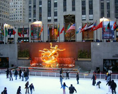 Rockefeller center - Europeans in New York